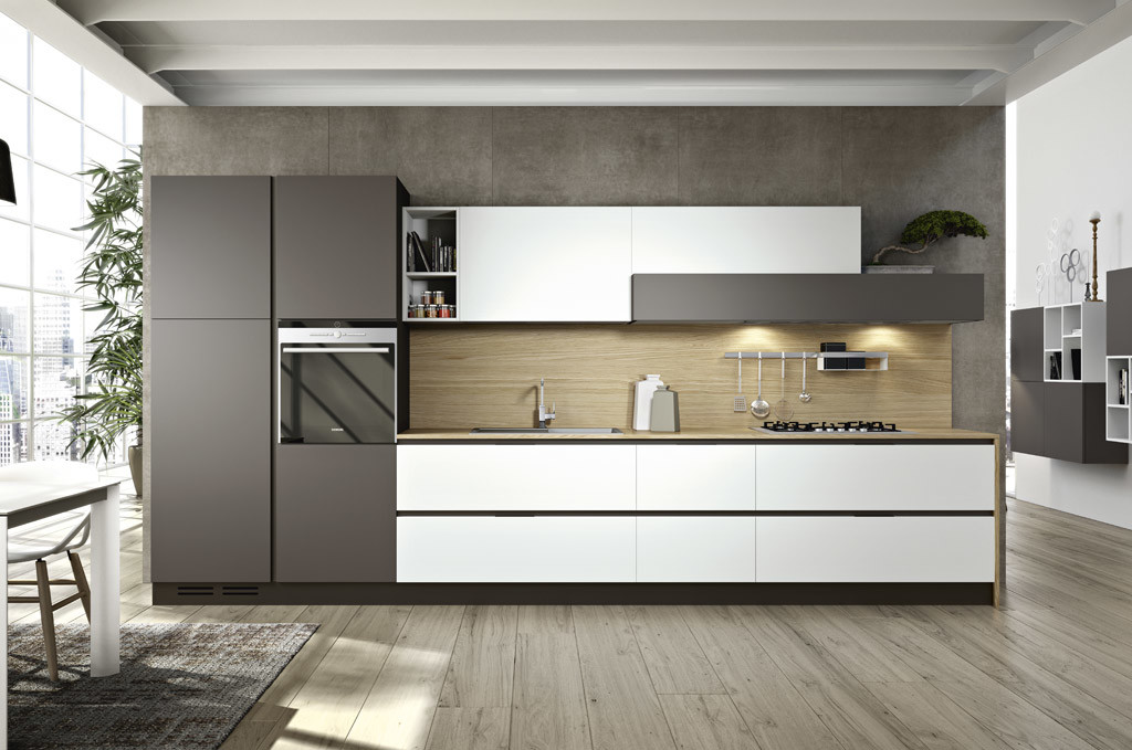 Arredamento Sar Seveso - Cucina colore bianco e grigio - Sar Seveso